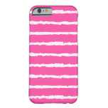 Unique Pink White Grunge Stripes iPhone 6 case