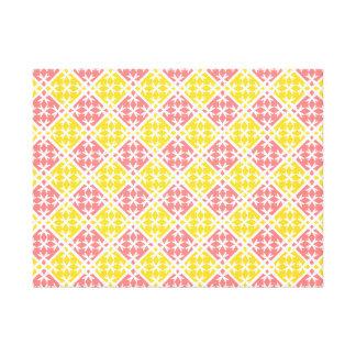 Unique Pink & Yellow pattern Canvas Print