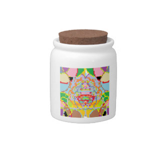 Unique Pixel Art Jar Candy Jars