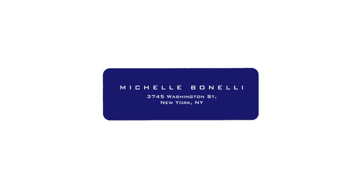 Midnight Blue Return Address Label