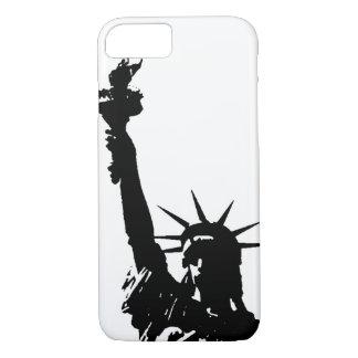 Unique Pop Art Liberty Silhouette iPhone 7 Case