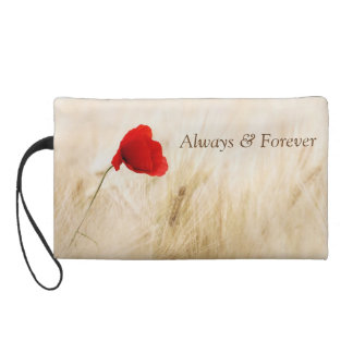 unique poppy and a promise to remember wristlet purse