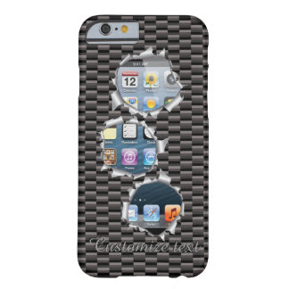 Unique Popular Caron Fiber Bullet Holes Template Barely There iPhone 6 Case