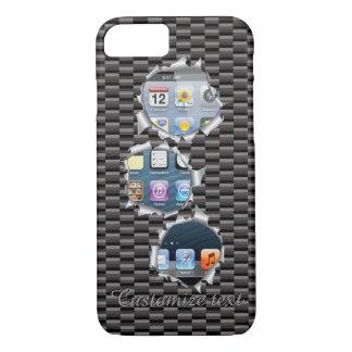 Unique Popular Caron Fiber Bullet Holes Template iPhone 8/7 Case