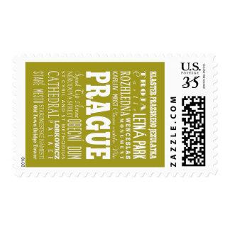 Unique Prague, Czech Republic Gift Idea Stamp
