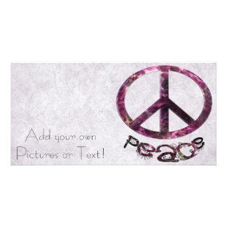 Unique Pretty Peace Sign Card
