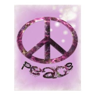 Unique Pretty Peace Sign Flyer