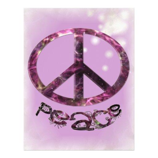 Unique Pretty Peace Sign Full Color Flyer
