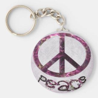 Unique Pretty Peace Sign Key Chain