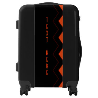 Unique Princeton Orange on Black Personalized Luggage