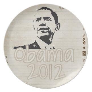 unique pro obama dinner plate