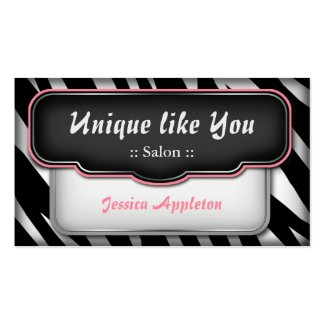 Girly business cards october 2014 unique puffy zebra print appointment cards business card templates reheart Image collections