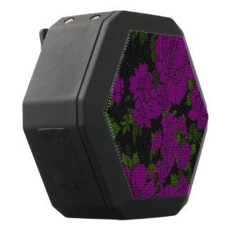 Unique Purple Abstract Roses Black Bluetooth Speaker