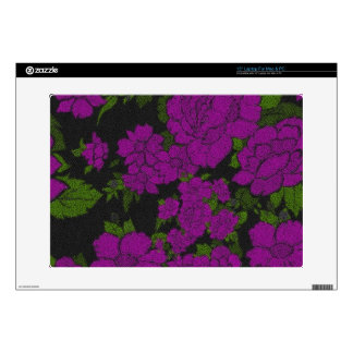 "Unique Purple Abstract Roses Skin For 15"" Laptop"