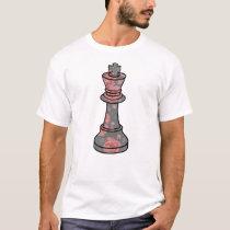 Unique Queen Chess Pierce Inspired Design T-Shirt