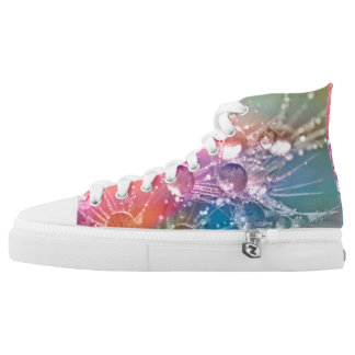 Unique Rainbow Drop of Water Shoes Printed Shoes