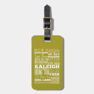 Unique Raleigh, North Carolina Gift Idea Travel Bag Tags