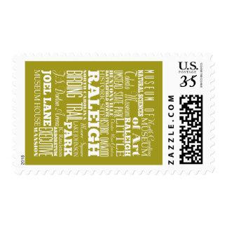 Unique Raleigh, North Carolina Gift Idea Stamp