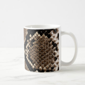 Unique Rattlesnake Skin Custom Coffee Mug