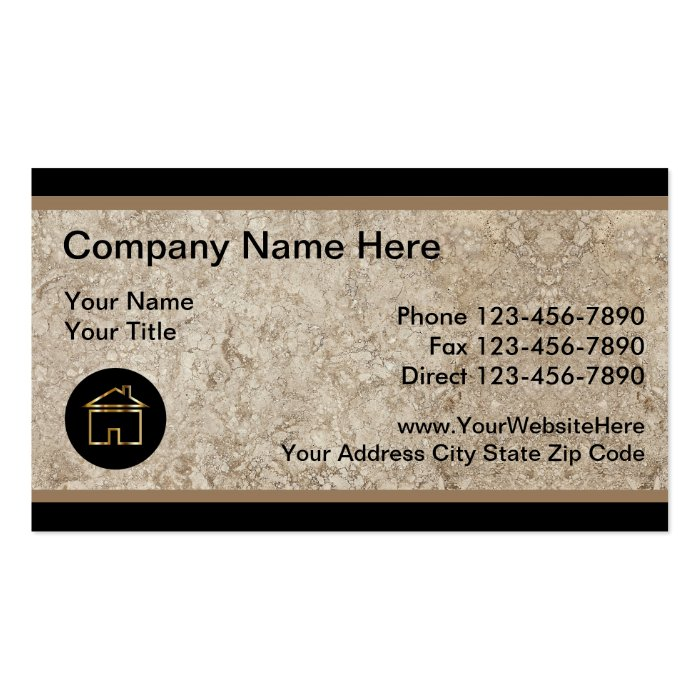 Unique Real Estate Business Cards