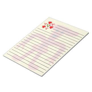 Unique red colored creature notepad