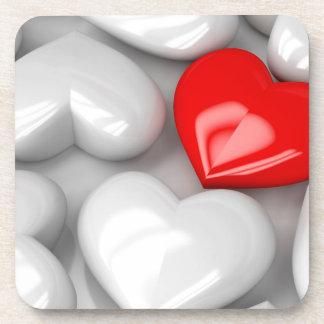 Unique red heart coaster