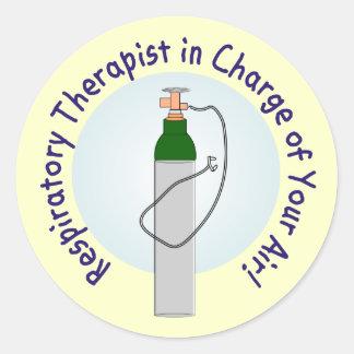 Unique Respiratory Therapist Gifts Classic Round Sticker