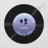 Unique Retro Vinyl Record Wedding Custom THANK YOU