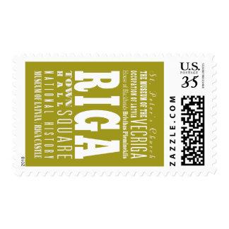 Unique Riga, Latvia Gift Idea Postage Stamp
