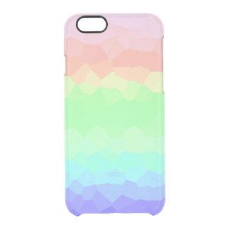 Unique Rock Candy Rainbow Light Colored Multicolor Clear iPhone 6/6S Case