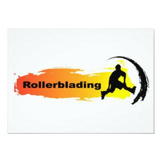 Unique Rollerblading Card