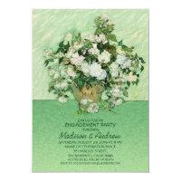 Unique Rose Vase Floral Engagement Party Card