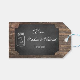 Unique Rustic Mason Jar Chalkboard Wedding Custom Gift Tags