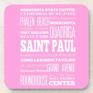 Unique Saint Paul, Minnesota Gift Idea Beverage Coaster