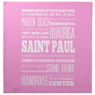 Unique Saint Paul, Minnesota Gift Idea Cloth Napkin
