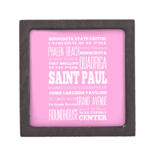 Unique Saint Paul, Minnesota Gift Idea Jewelry Box