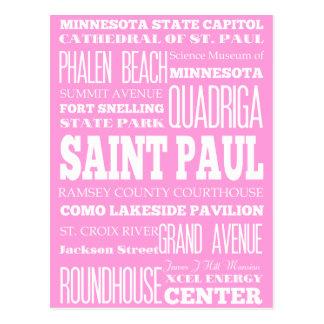Unique Saint Paul, Minnesota Gift Idea Postcard