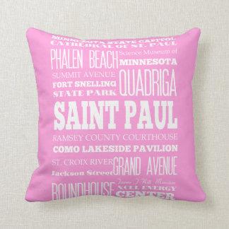 Unique Saint Paul, Minnesota Gift Idea Throw Pillow
