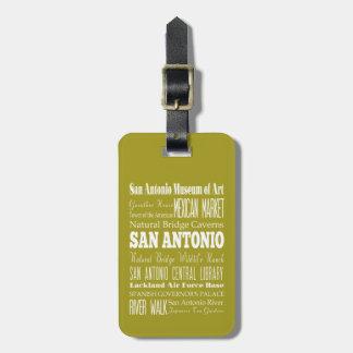 Unique San Antonio, Texas Gift Idea Luggage Tag