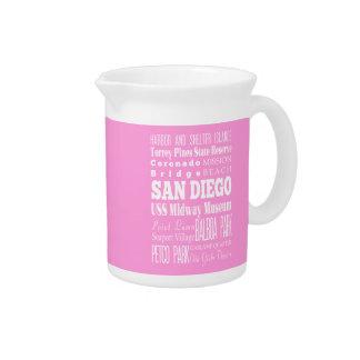 Unique San Diego, California Gift Idea Beverage Pitchers