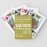 Unique San Diego, California Gift Idea Bicycle Playing Cards