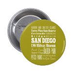 Unique San Diego, California Gift Idea Button