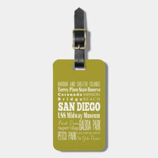 Unique San Diego, California Gift Idea Luggage Tags