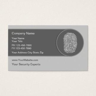 Unique Security Business Cards