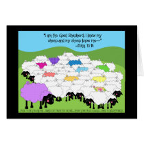 Unique Sheep Birthday Card
