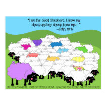 Unique Sheep Good Shepherd Inspirational Postcard