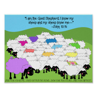 Unique Sheep Good Shepherd Poster