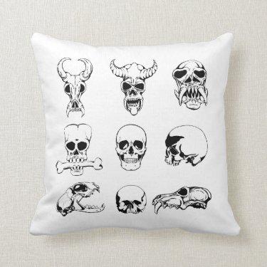 Unique Skull Pillow Gift Present for Man Men Boys