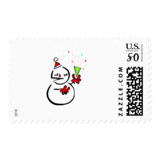 Unique Snowman Postage