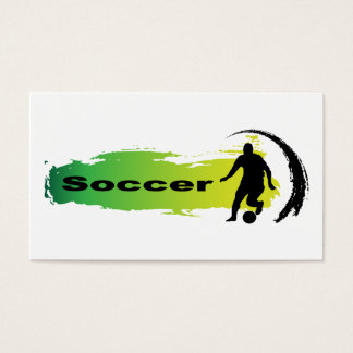 Unique Soccer Business Card